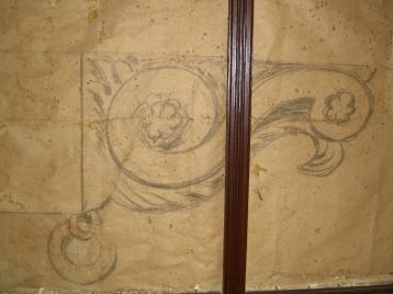 Original sketches found behind wall